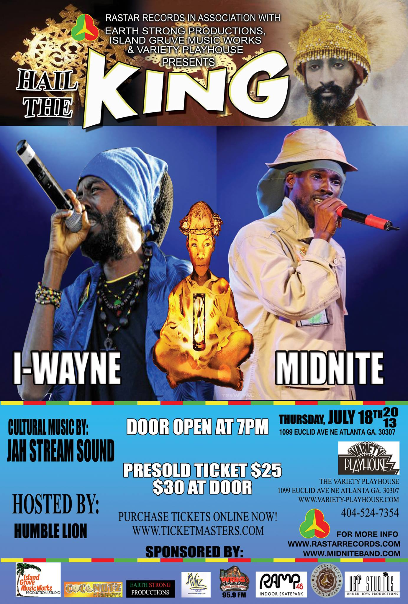 MIDNITE & I-WAYNE live on stage at the Hail the King night! (2 shows)